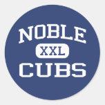 Noble noble Oklahoma de la escuela secundaria de C Pegatinas Redondas