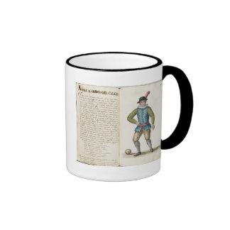 Noble que juega al fútbol, veneciano (manuscrito) tazas