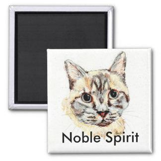 Noble Spirit cat magnet