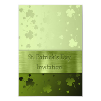 Noble St. Patrick's Day Shamrocks - Invitation