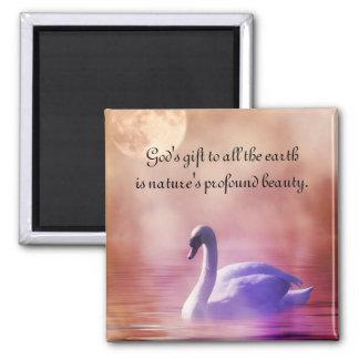 Noble Swan Magnet