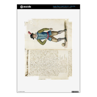 Nobleman playing football, Venetian (manuscript) iPad 3 Decals