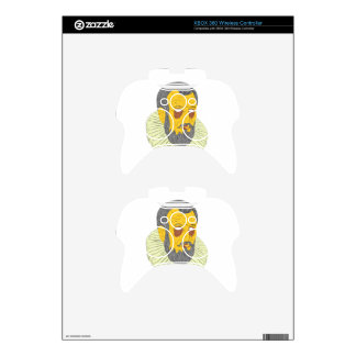 Nobleman Wearing Ruff Collar Grime Art Xbox 360 Controller Decal