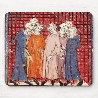Noblemen conspiring against King Louis Mouse Pad