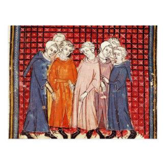 Noblemen conspiring against King Louis Postcard