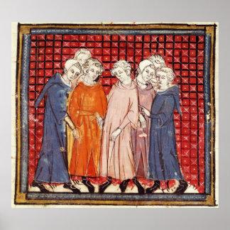 Noblemen conspiring against King Louis Poster