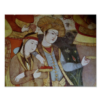 Nobles at the Court of Shah Abbas I Poster