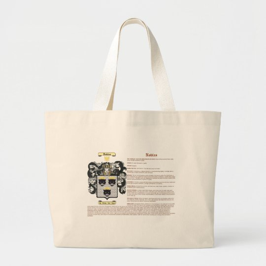 Nobles (meaning) large tote bag