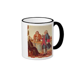 Nobles venecianos en un café taza