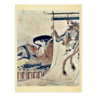 Noblewoman by Hosoda, Eishi Ukiyoe Post Card