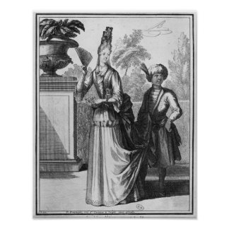Noblewoman's dress, late 17th century poster