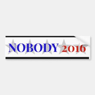 Nobody 2016 car bumper sticker