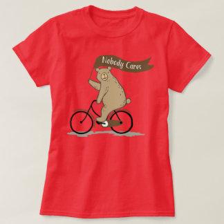 Nobody Cares Bear, Funny, Animal Humor T-Shirt