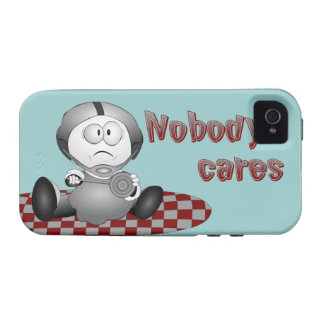 Nobody Cares iPhone 4 Tough Case Vibe iPhone 4 Cover