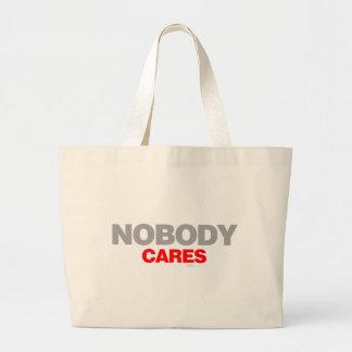 Nobody Cares - sad shout emo shut up funny Bags