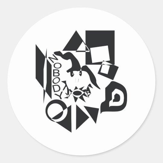 Nobody Classic Round Sticker