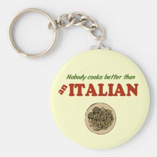 Nobody Cooks Better than an Italian Keychain