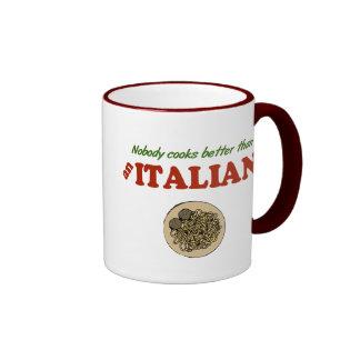 Nobody Cooks Better than an Italian Ringer Coffee Mug
