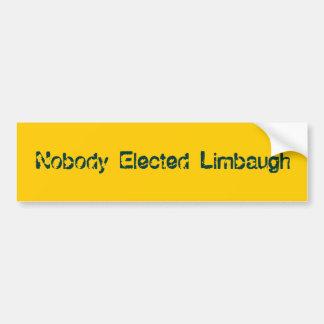 Nobody Elected Limbaugh Car Bumper Sticker