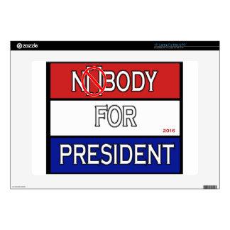 """Nobody for President 2016 full Product line Skins For 15"""" Laptops"""