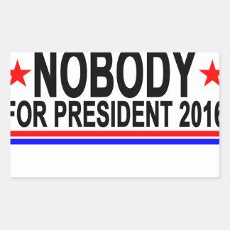 NOBODY FOR PRESIDENT 2016 Tee Shirts.png Rectangular Sticker