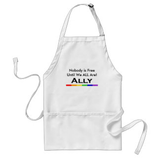 Nobody is Free Ally Aproon Adult Apron