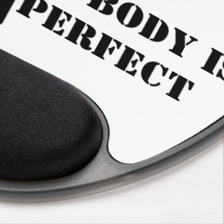 Nobody is perfect gel mouse pad