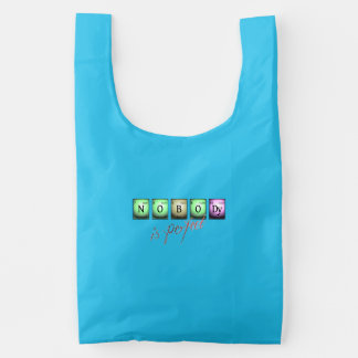 nobody is perfect in chemical elements reusable bag
