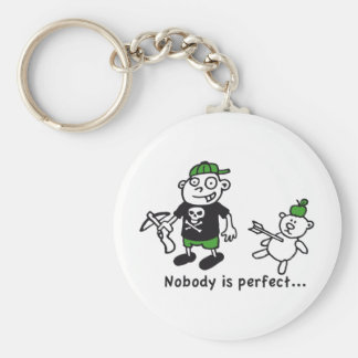 nobody is perfect key chains