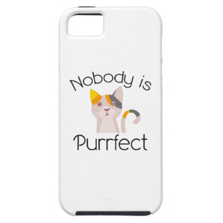 Nobody Is Purrfect iPhone 5 Cases