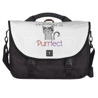 Nobody Is Purrfect Laptop Bags