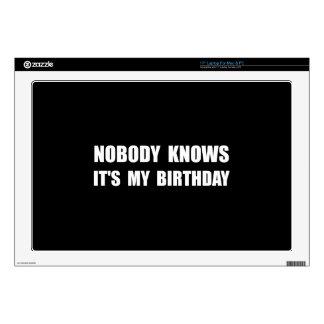 """Nobody Knows Birthday 17"""" Laptop Skins"""