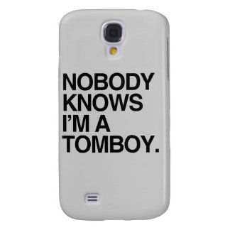 NOBODY KNOWS I M A TOMBOY - png Samsung Galaxy S4 Cover