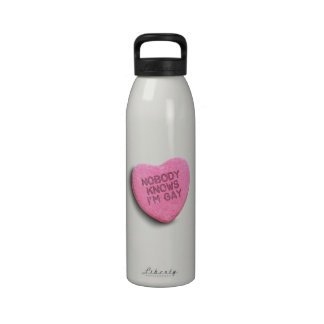 NOBODY KNOWS I M GAY CANDY REUSABLE WATER BOTTLES
