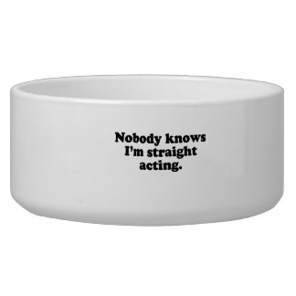 Nobody knows I m straight acting png Dog Bowls