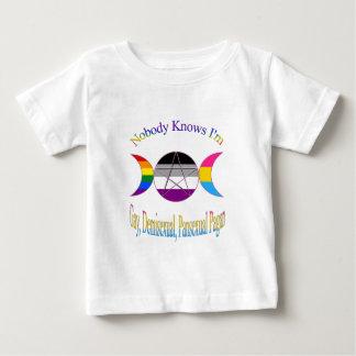 Nobody Knows I'm A Gay Demisexual Pansexual Pagan Baby T-Shirt