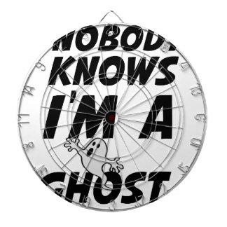 Nobody Knows I'm A Ghost design Dartboard With Darts