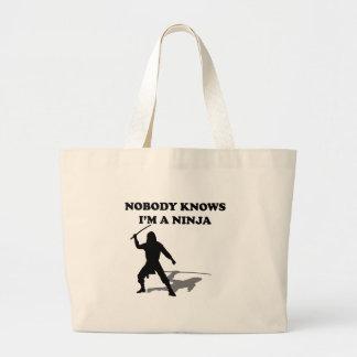 Nobody Knows I'm A Ninja Bags