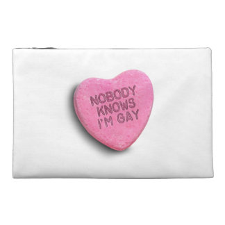 NOBODY KNOWS I'M GAY CANDY TRAVEL ACCESSORIES BAGS
