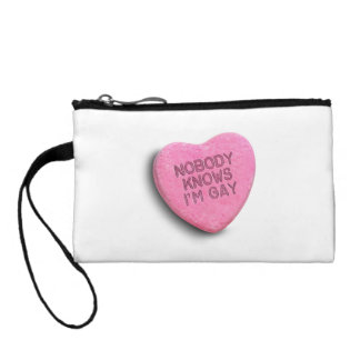 NOBODY KNOWS I'M GAY CANDY CHANGE PURSES
