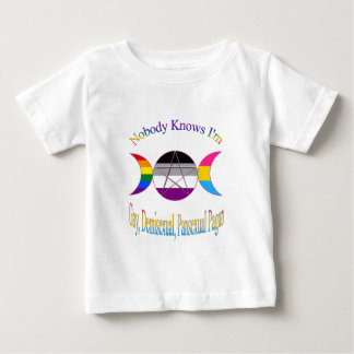 Nobody Knows I'm Gay Demisexual Pansexual Pagan Baby T-Shirt