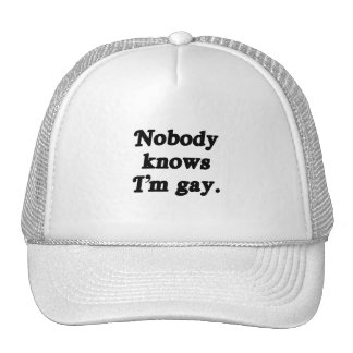 Nobody knows I'm Gay Mesh Hats