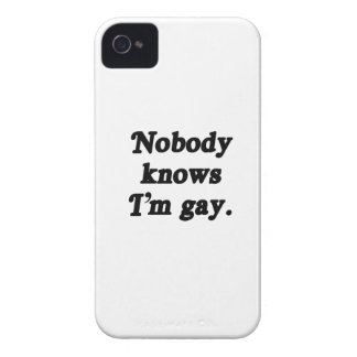 Nobody knows I'm Gay - .png iPhone 4 Cases