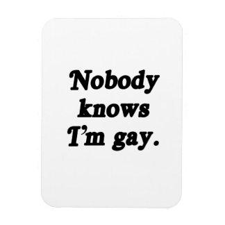 Nobody knows I'm Gay - .png Rectangular Photo Magnet