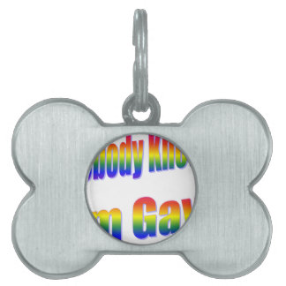 Nobody Knows I'm Gay Rainbow Pet Tags