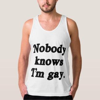 Nobody knows I'm Gay Tank Top