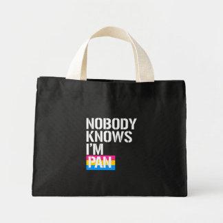 Nobody Knows I'm Pan - - LGBTQ Rights -  -  Mini Tote Bag