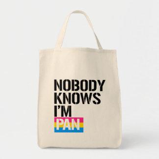 Nobody Knows I'm Pan - - LGBTQ Rights -  Tote Bag