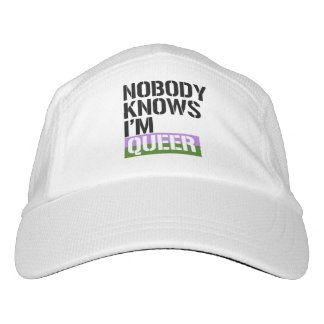 Nobody Knows I'm Queer - - LGBTQ Rights -  Headsweats Hat