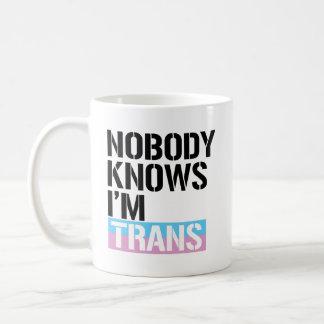 Nobody Knows I'm Trans - - LGBTQ Rights -  Coffee Mug